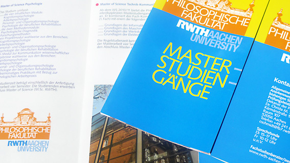 Flyer with Master's courses of study